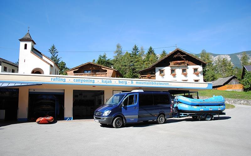 Sommer-Taxi - Rafting mit Bootsanhänger