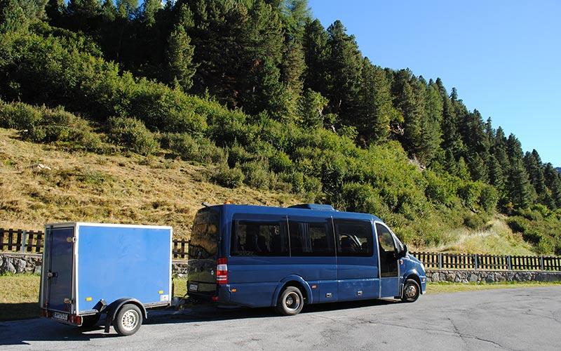 Sommer-Taxi zum Wandern und Mountainbiken